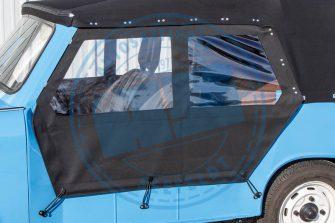 Trabant KübelSeitenplane PVC-Verdeckstoff schwarz