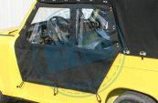 Trabant Seitenplane Verdeckstoff schwarz