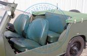 Trabant Kübel Sitze Kunstleder original grün